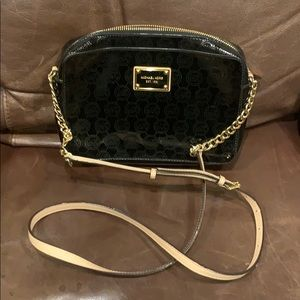 Michael Kors black patent leather handbag